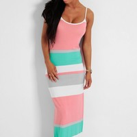 Sundae Girl Pastel Stripe Print Maxi Dress | Pink Boutique