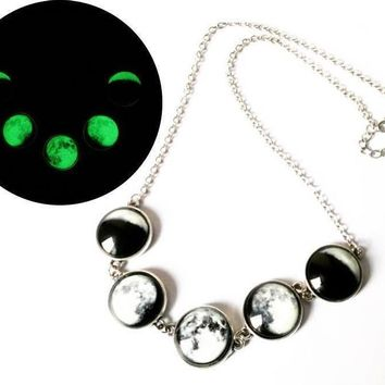 Luminous Phases of the Moon Glass Jewelry