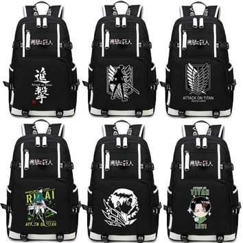 Japan Anime Shingeki no Kyojin Scouting Legion Schoolbag Attack on Titan Backpack Shoulders Bag for Students book bag package