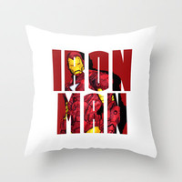 I am Iron Man Throw Pillow by Musa Drammeh