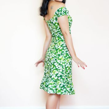 Toff Dress in Tiny Daisy print