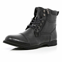Black distressed military boots - boots - shoes / boots - men