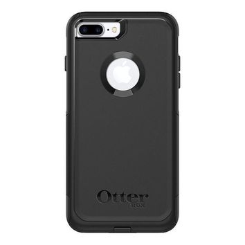 DCK4S2 OtterBox COMMUTER SERIES Case for iPhone 8 Plus & iPhone 7 Plus (ONLY) - Frustration Free Packaging - BLACK