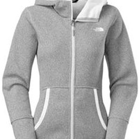 Gliks - The North Face Banderitas Hoodie for Women in High Rise Grey Heather