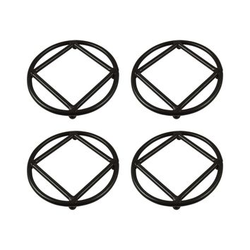 Lex Set of 4 Round Trivets Rustic