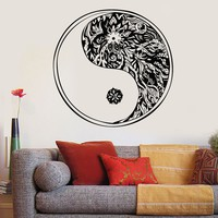 Vinyl Wall Decal Yin Yang Oriental Chinese Tai Chi Philosophy Stickers Unique Gift (ig3175)