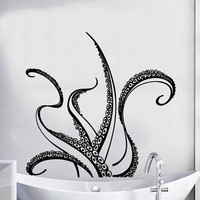 Tentacles Decal Octopus Wall Decal Nautical Decor Marine Vinyl Stickers Sea Ocean Animal Decals Home Design Bathroom Decor Art Murals KY152