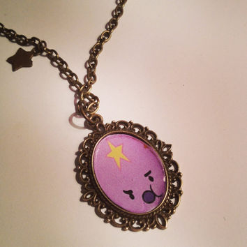 Adventure Time Lumpy Space Princess Cameo by RabbitJewellery