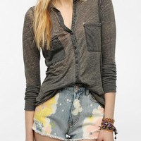 Alternative Everyday Knit Button-Down Top