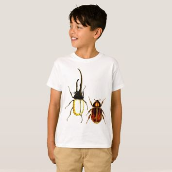 beetles bugs Entomology art poster T-Shirt