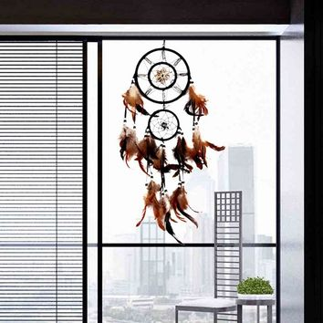 Russia Style Handmade Dream Catcher Shell With Feathers Wall Hanging Decoration Ornament Gift Decoration Craft