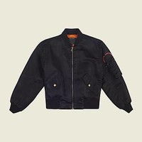 Black Bomber Jacket with Logo - Marc Jacobs