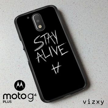 Twenty One Pilots Stay Alive X4419 Motorola Moto G4 | G4 Plus Case