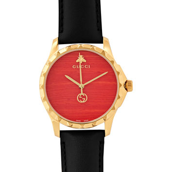 Gucci - Gold PVD-Plated and Leather Watch