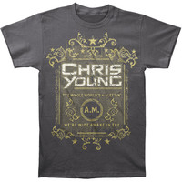 Chris Young Men's  The Whole World's A Sleepin Mens T T-shirt Charcoal