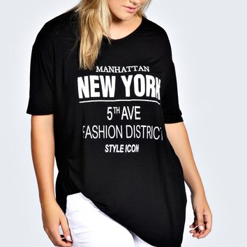 Plus Eleanor New York Oversized Tee