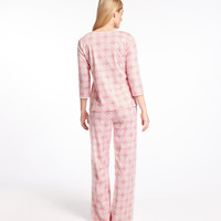 Supima Cotton Pajamas, Three-Quarter Sleeve Print