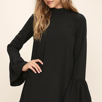 Mod Squad Black Shift Dress