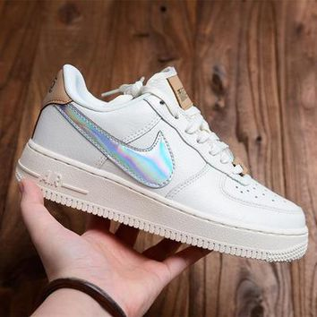 Nike Air Force 1 '07 QS Tide brand laser men and women casual sports low-top shoes