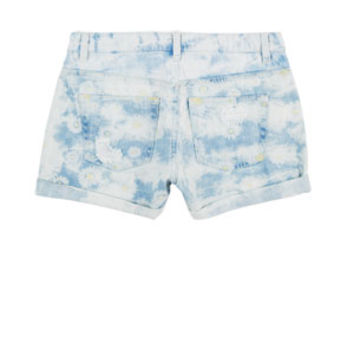Liv High-Rise Shorts in Washed Down Daisy - Light Blue