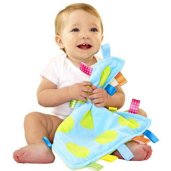 1pcs Super Soft Baby 0M+ Plush Soothe Towel Comforting Toy Educational Security Blanket