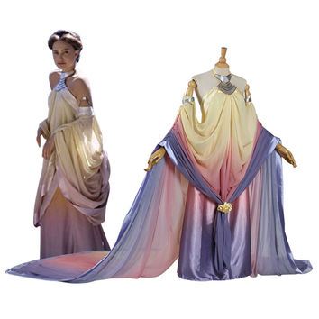 Star Wars Padme Amidala Cosplay Costume long party dresses Halloween Costume for women adult Padme Princess Dress