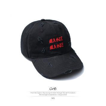 Men's Fashion Ripped Holes Casual Couple Hats [10511260547]