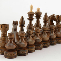 Wooden handmade luxury chess sets Exclusive carved chess pieces and boards Gifts