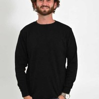 1897 Mens Long Sleeve Thermal Shirt in Black GLMTH-4800-BLK