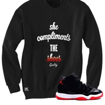 Untuckt ¨C Compliments Crew Neck Matches Air Jordan 3Lab5 Infrared