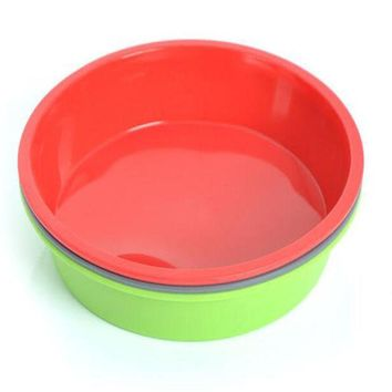 ICIK272 1 piece Round Silicone Pizza Pan Baking  Microwave Cake Oven Baking Dish Bread Plate Kitchen Tools