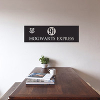 Hogwarts Express - Train Station Sign - Vinyl Wall Decoration - Harry Potter JK Rowling
