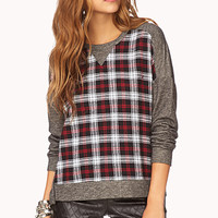School-Girl Cool Plaid Pullover