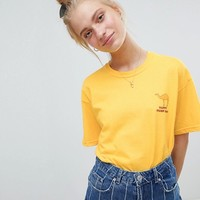 Daisy Street T-Shirt With Hump Day Print at asos.com