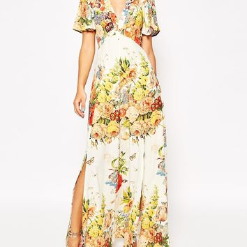 ASOS Tea Maxi Dress in Floral Bloom