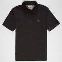 Volcom Smasher Solid Mens Polo Shirt Heather Black  In Sizes
