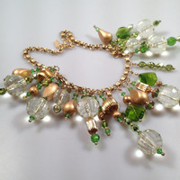 IBA Statement Necklace Green Gold & Awesome INSPIRED by AMBER