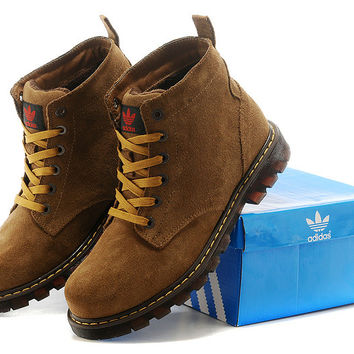 Adidas: winter with velvet Boots, leather cowhide high Boots