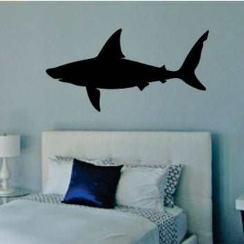 Shark Silhouette Design Animal Decal Sticker Wall Vinyl Decor Art