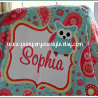 Personalized Baby or Toddler Plush Blanket - All Themes Available