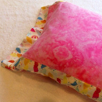 Travel Pillow Cover/Case, Pink Flannel