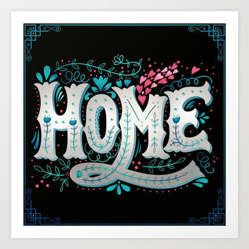 Home Art Print by MIKART