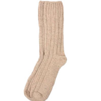 Boot Socks in Wool and Silk - Oatmeal