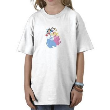 Disney Princesses Cinderella Ariel Jasmine Aurora T-shirt from Zazzle.com