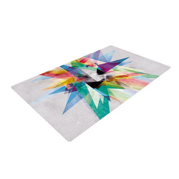 KESS InHouse Colorful Rainbow Abstract Area Rug