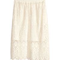 H&M - Lace Skirt - Natural white - Ladies