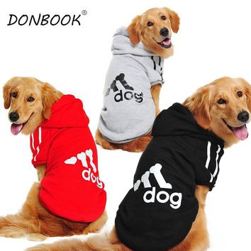 The Dog's Adidas-style Comfy T-shirts With Hoodie for Big Dogs