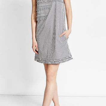 Ruffled Shift Dress with Cotton - Victoria, Victoria Beckham | WOMEN | US STYLEBOP.COM