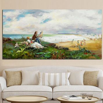 Modern Claude Monet Impression Pastoral Landscape Poster HD Print Abstract Oil Painting on Canvas Wall Picture for Living Room