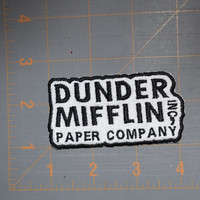 Dunder Mifflin Paper Co. The Office inspired Iron-on Embroidered Patch